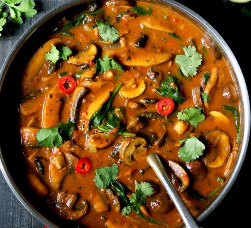 Portobello Mushroom Masala