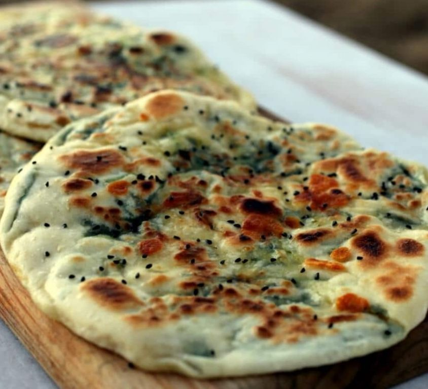 Stuffed Spinach Cheese Naan